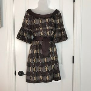 Nanette Lepore Brown Off the shoulder dress 4